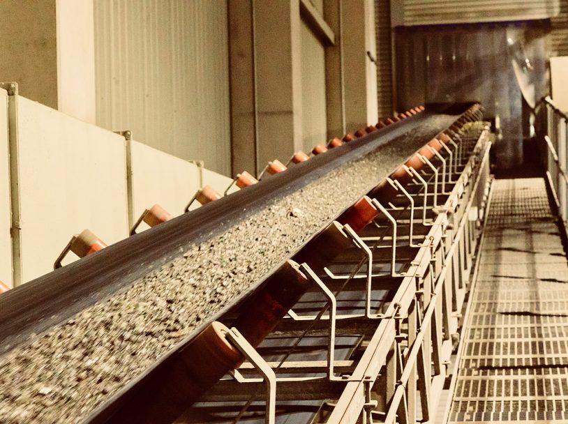 Abbildung Förderband der Nassaufbereitungsanlage