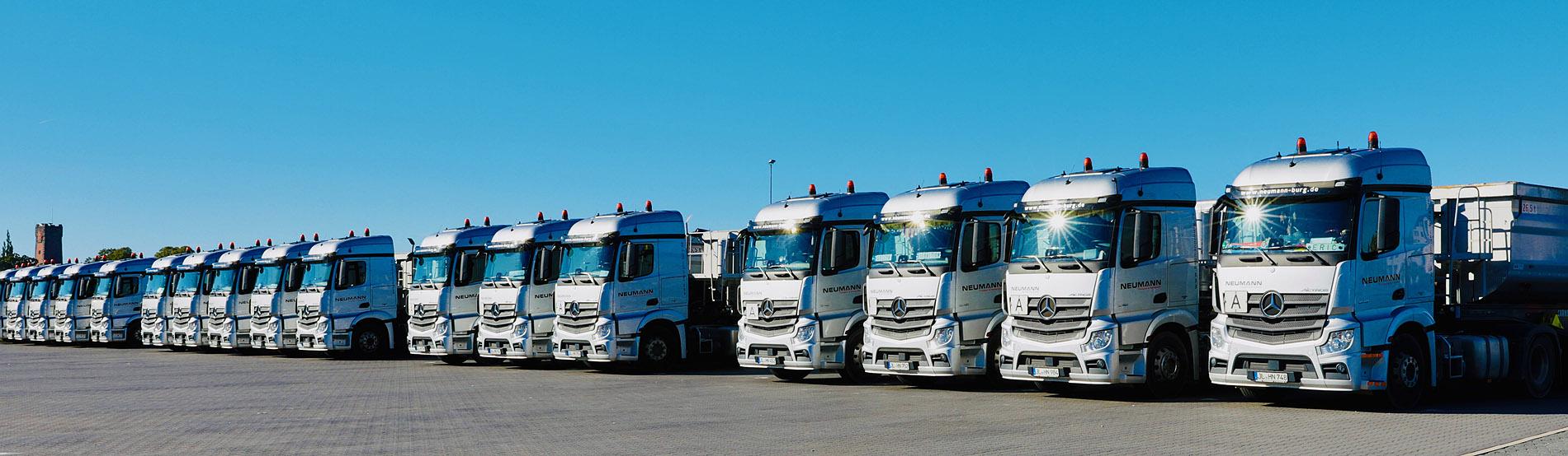 Abbildung Flotte der Neumann Transporte