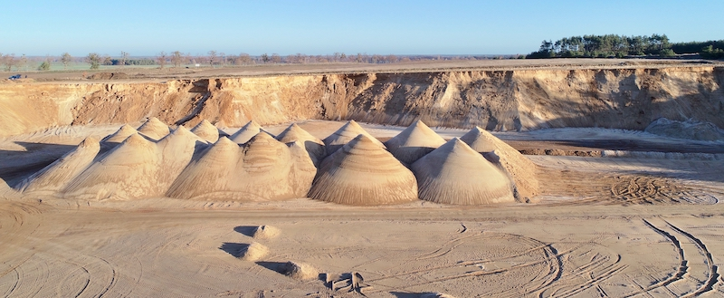 Abbildung Sandgrube Lager