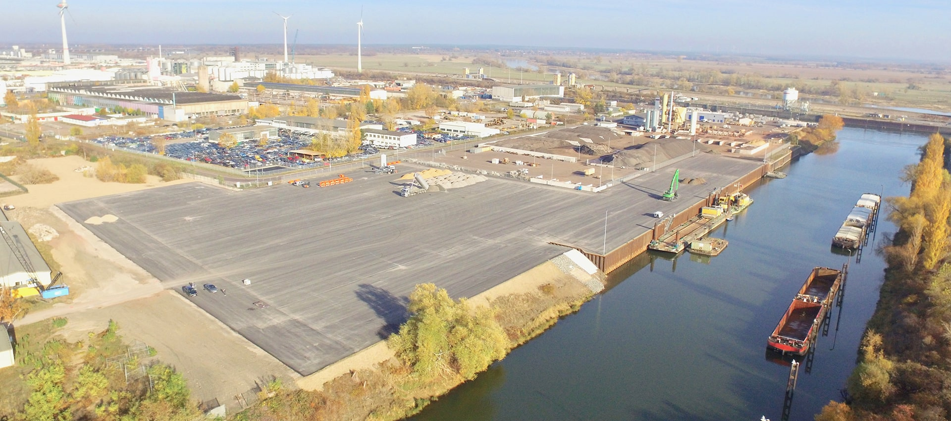Abbildung UHM Umschlaghafen Magdeburg