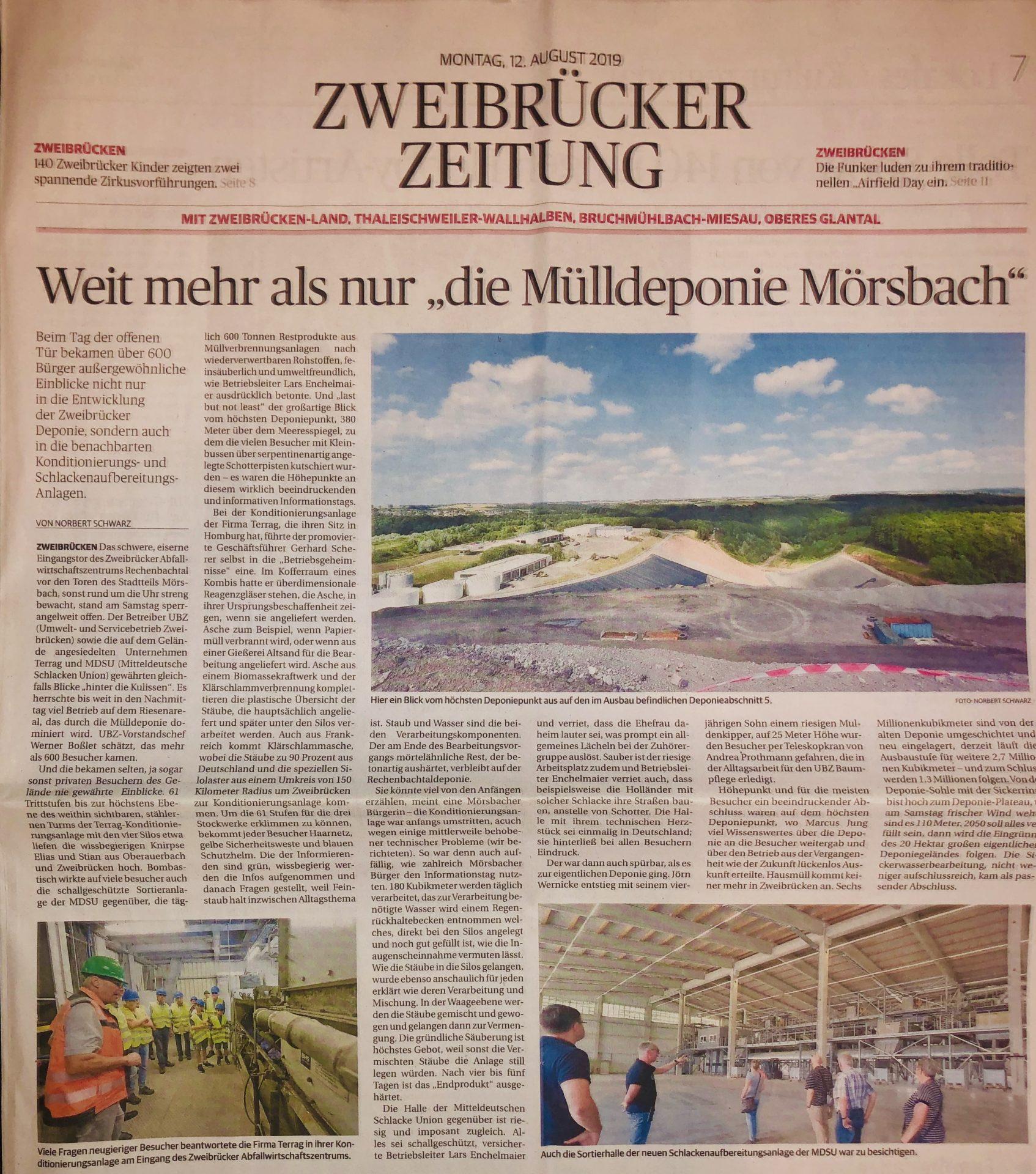 Tag der offenen Tür: Zweibrücker Zeitung