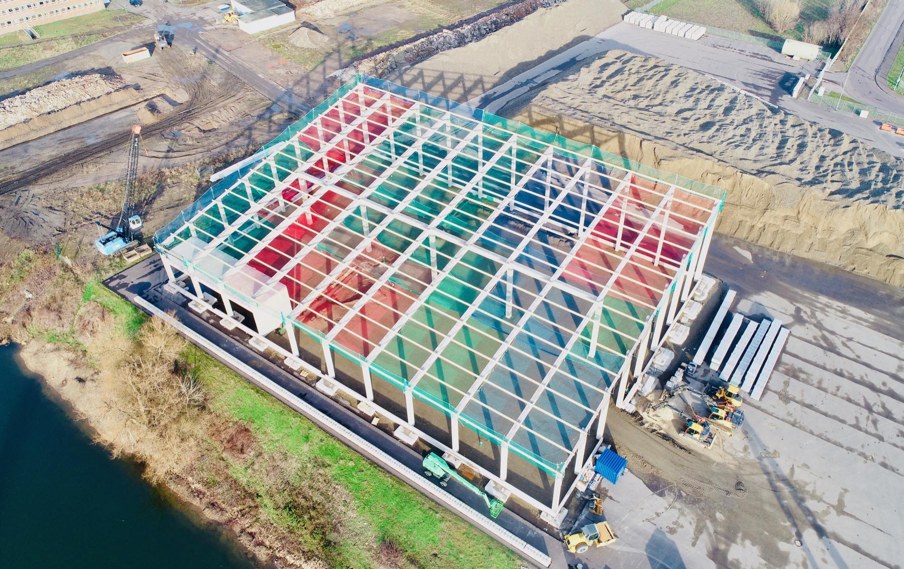 UHM neue Halle im Februar 2020 von oben