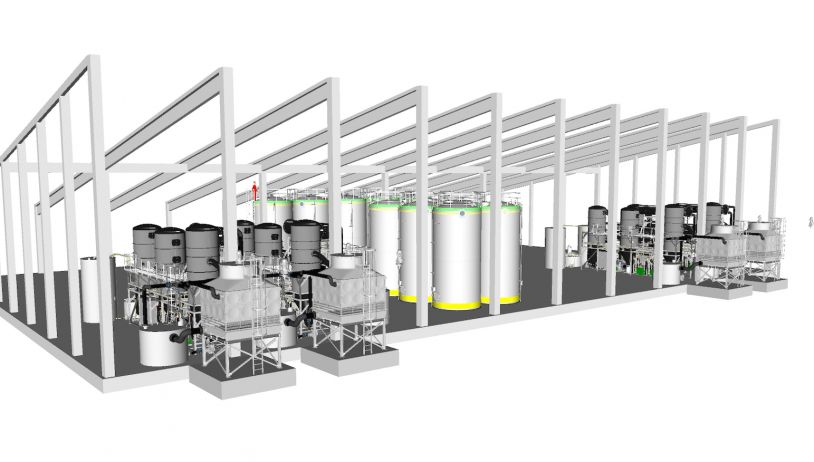Wasseraufbereitsanlage Planung 3D-Modell