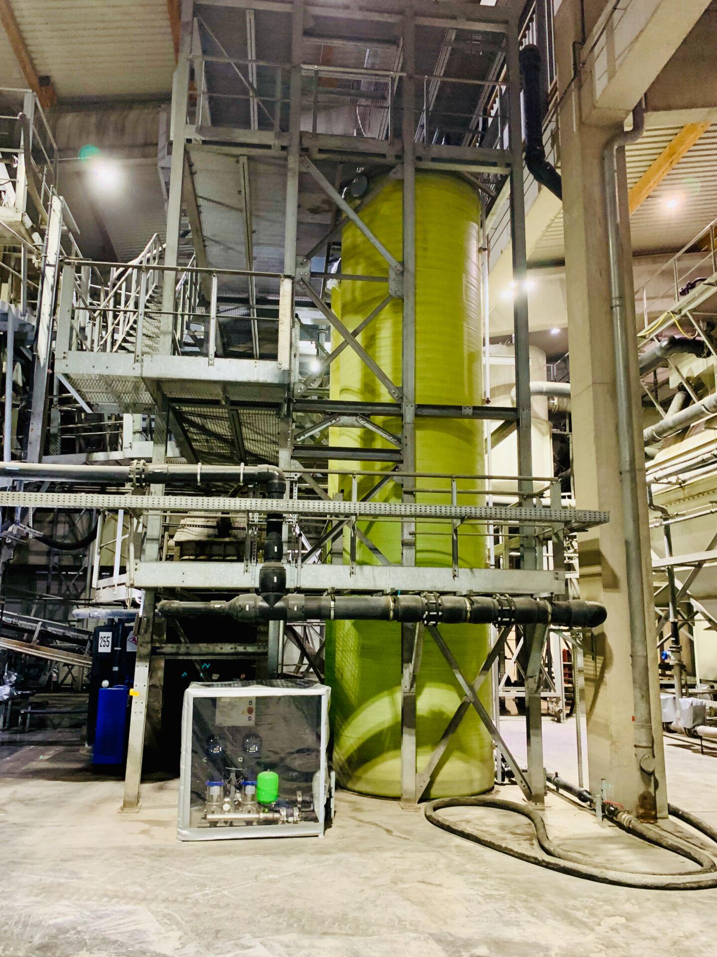 Permeattanks und Druckerhöhungsanlage für das Prozessfrischwasser
