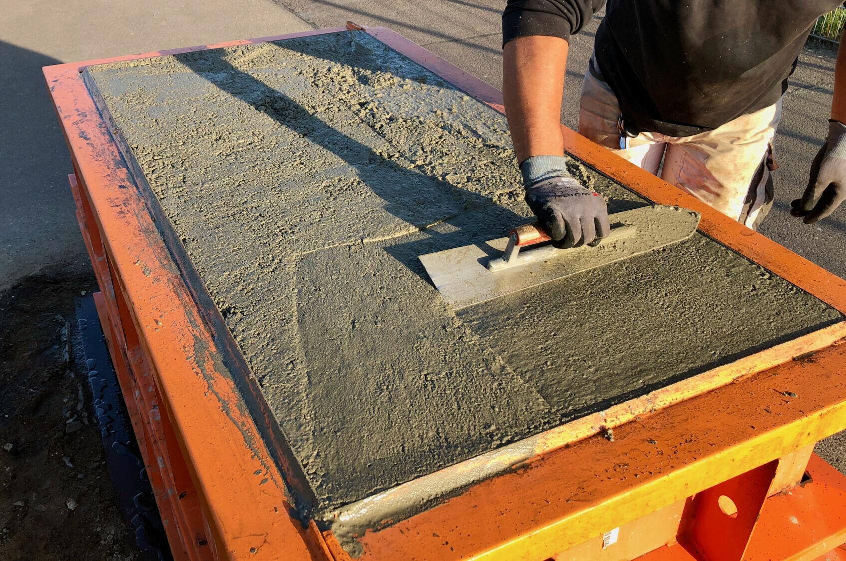 Bild Blocksteine werden abgezogen